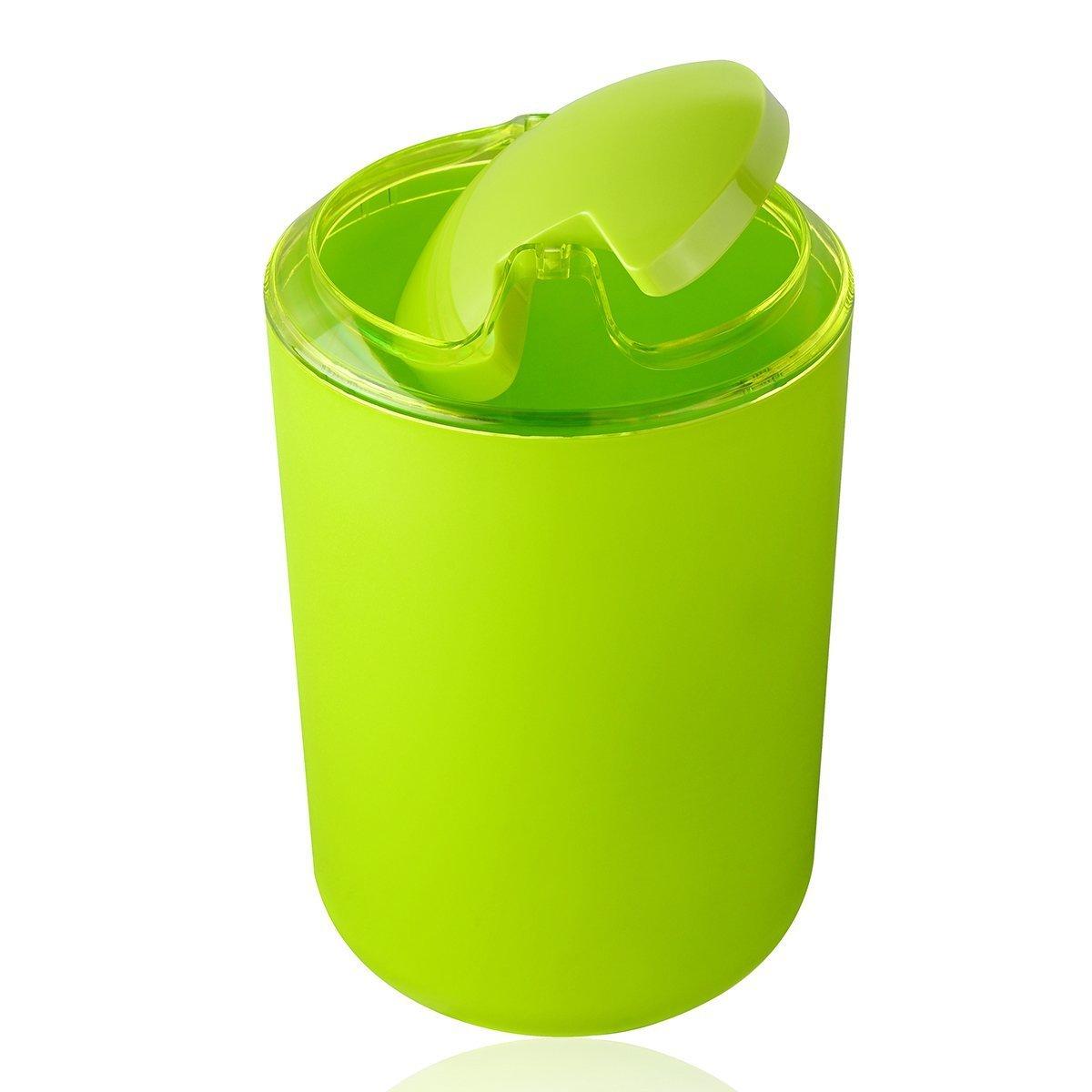 6 Pcs Bathroom Accessory Set Toothbrush Holder Bin Soap Dish Dispenser Tumbler Apple Green Colour