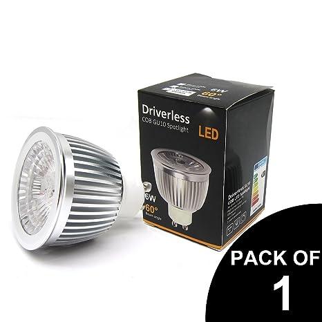 1 paquete de bombillas LED GU10 de ahorro de energía super brillante COB foco LED,