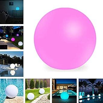 uuffoo Bola solar LED, luz de esfera flotante impermeable para exteriores, 16 colores RGB