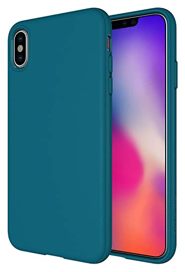 iPhone Xs Max Case, Diztronic Full Matte Soft Touch Slim-Fit Flexible TPU Case for Apple iPhone Xs Max (Matte Teal Blue)