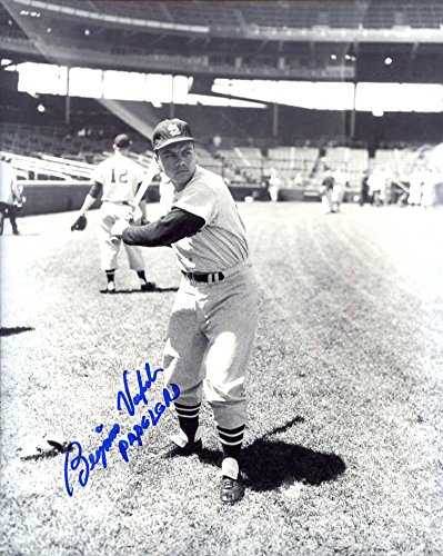 (Ben Valenzuela Autographed/ Original Signed 8x10 B&W Photo Showing Him w/ the 1958 St. Louis Cardinals (Pose 2) - He Also Inscribed His Nickname