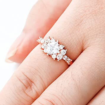 1402004f8 Image Unavailable. Image not available for. Color: Barogirl Diamond Ring  Engagement Ring for Women Women's ...