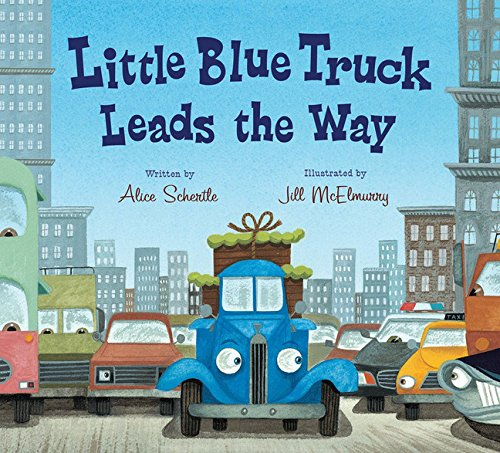 Little Blue Truck Leads the Way board book Little Blue Truck