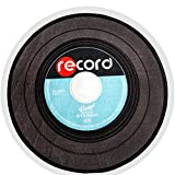 """A.B Crew Retro Style Vinyl Record Shaped Round Area Rug Carpet Office Chair Mat(Blue,39.4""""x39.4"""")"""