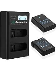 Powerextra Baterías Nikon EN EL14 y EN-EL14a de Repuesto con Cargador Inteligete Pantalla LCD para Nikon P7000 P7100 P7700 P7800 D3100 D3200 D3300 D5100 D5200 D5300 DF Cámara