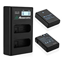 Powerextra Lot de 2 Batterie Nicon EN-El14 1500mAH et Chargeur à 2 Batteries Avec Ecran LCD Pour Nikon EN-EL14, EN-EL14a et Nikon Coolpix P7000, P7100, P7700, P7800, D3100, D3200, D3300, D3400, D5100, D5200, D5300, Df …