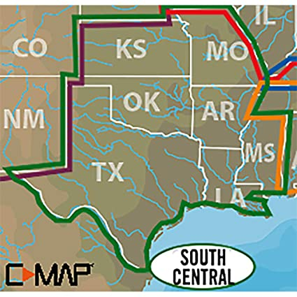 Amazoncom C Map Lake Insight Hd South Central Us Coverage Area - Us-map-la