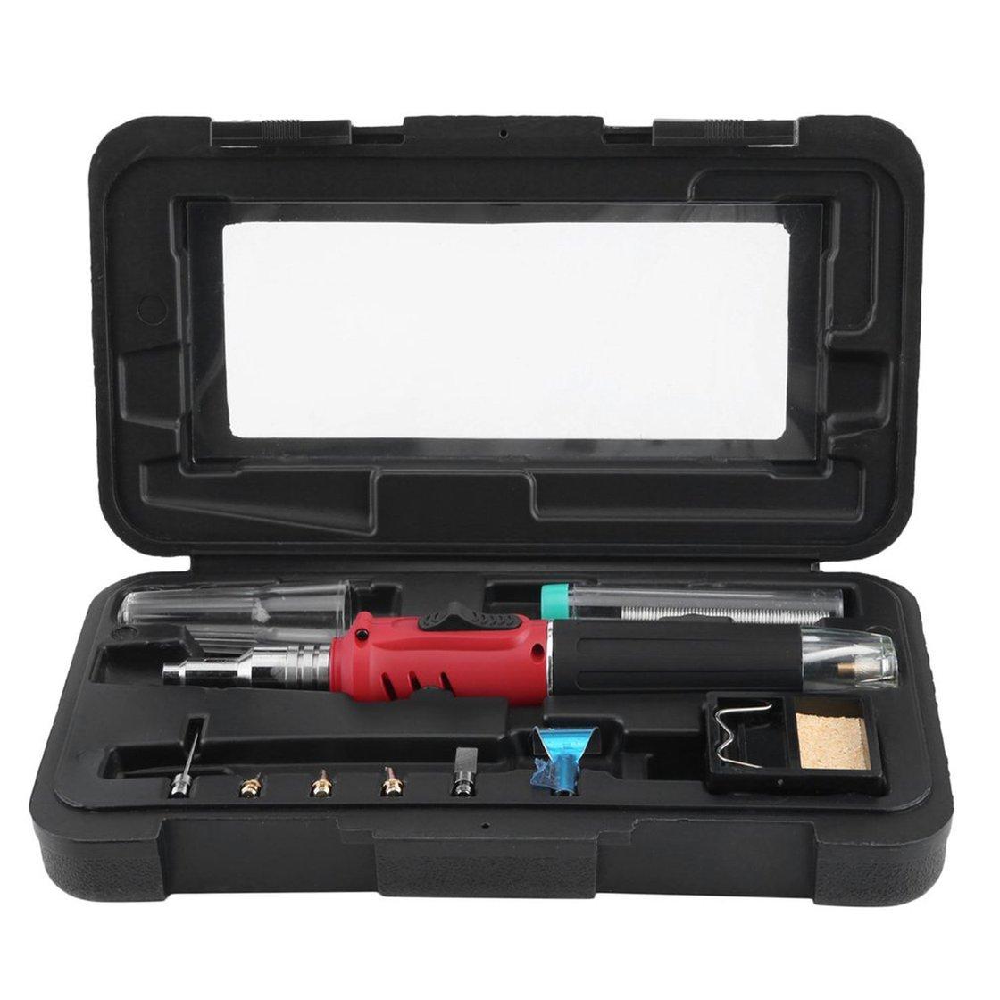 10 en 1 butane gaz fer à souder Set 26 ml kit de soudage torche stylo Style Design Compact léger pour pistolet à air chaud flamme Gwendoll