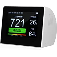 Kecheer Medidor co2,Detector de dióxido de carbono, Co2 detector calidad aire con higrómetro y termómetro,Medidor de co2…