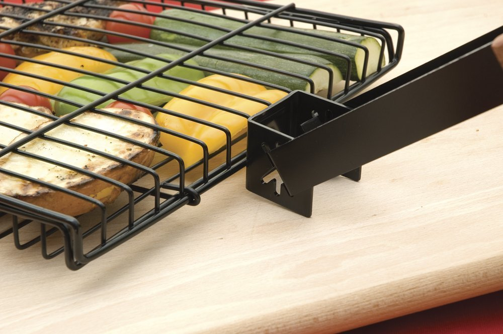 Charcoal Companion Ultimate Rectangular-Shaped Nonstick Grilling Basket, Set of 2 by Charcoal Companion