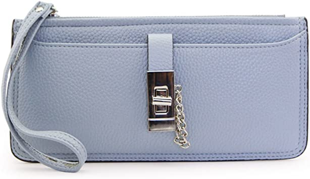KIU Monedero largo Dama/Simple Pack cremallera cerradura de la tarjeta/Bulto-bolso de mano-F: Amazon.es: Equipaje