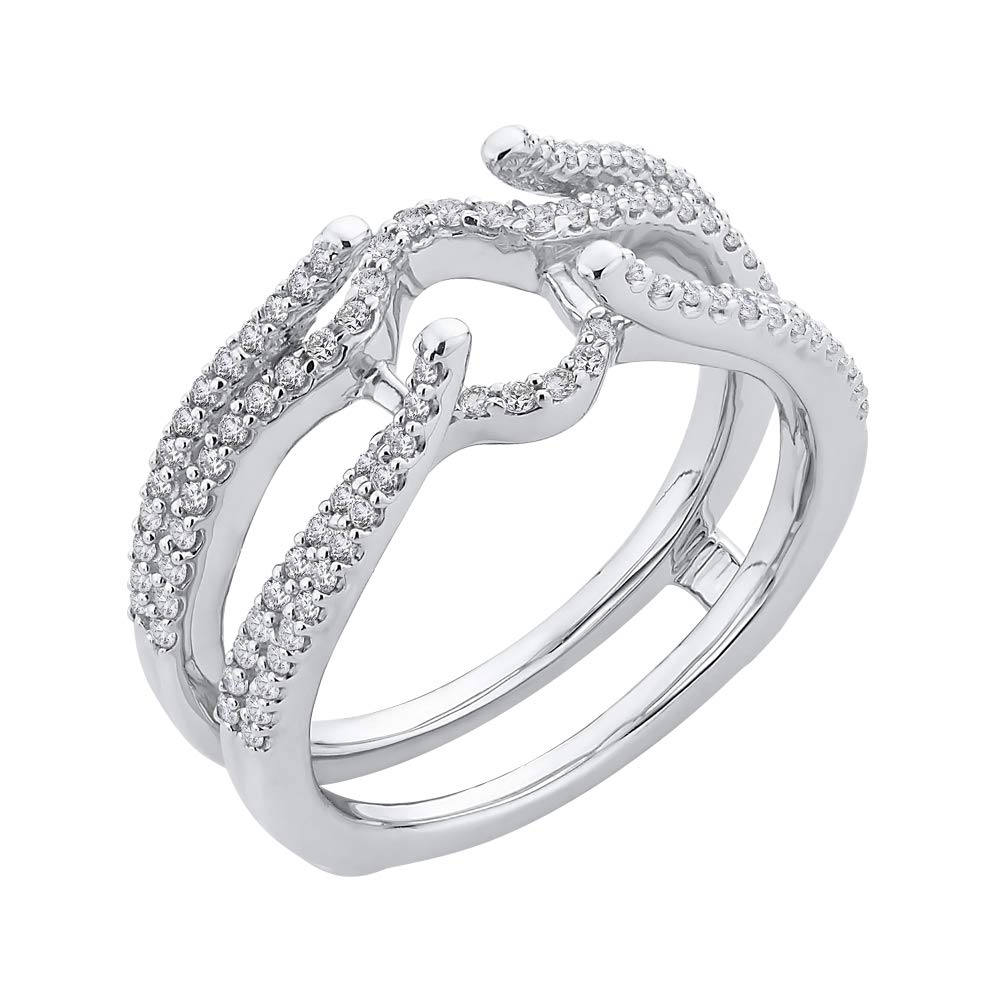 Amazon Com Katarina Diamond Prong Set Multi Row Wedding Ring