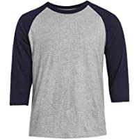 Men's 3/4 Sleeve Raglan Cotton Baseball Tee Shirt