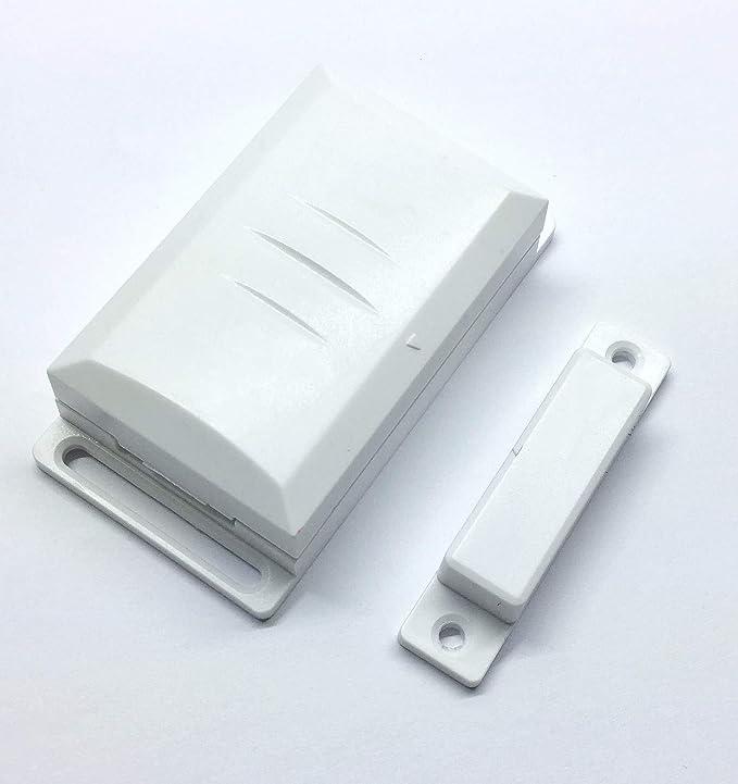 Interruptor de contacto de ventana DFM-1000 con sensor magnético para receptor inalámbrico de DIW y similares. Contacto externo para diversos circuitos.