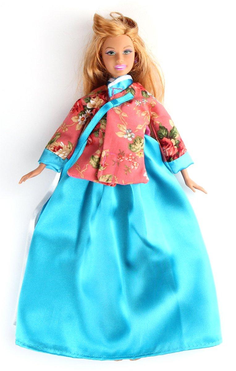 Amazon.com: Korean Traditional Costume Clothes Hanbok for Barbie ...