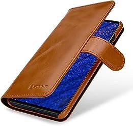 StilGut Housse pour Huawei Mate 20 Porte-Cartes en Cuir, Cognac