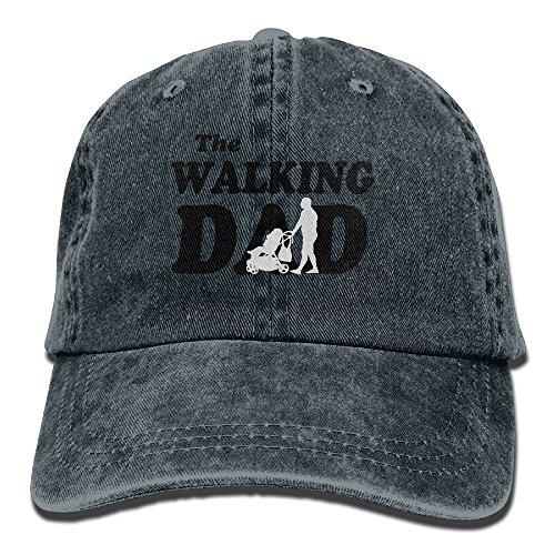Navy Single Stroller (Stroller Walking Dad Hipster Unisex Denim Jeans Adjustable Baseball Hat Hip-Hop Cap Gift For Men Women)