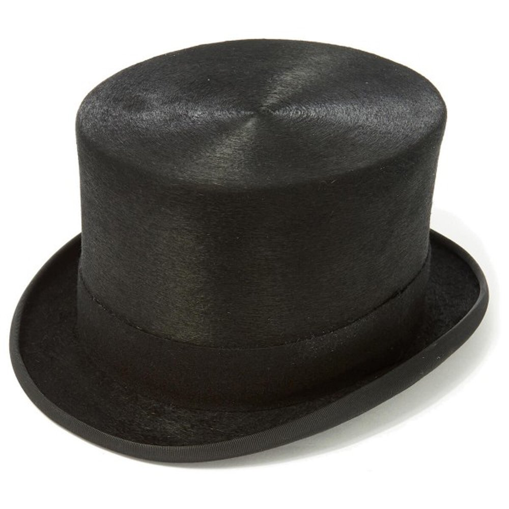 Black Polished Fur Top Hat Clermont Direct