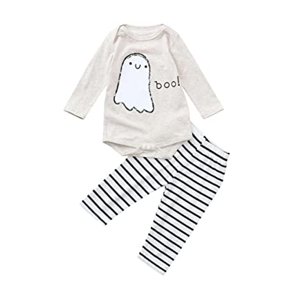8fe7ee9d7bd58 Clearance Sale! Baby Outfits Set Halloween, Iuhan Toddler Infant Baby Girls  Boys Letter Romper