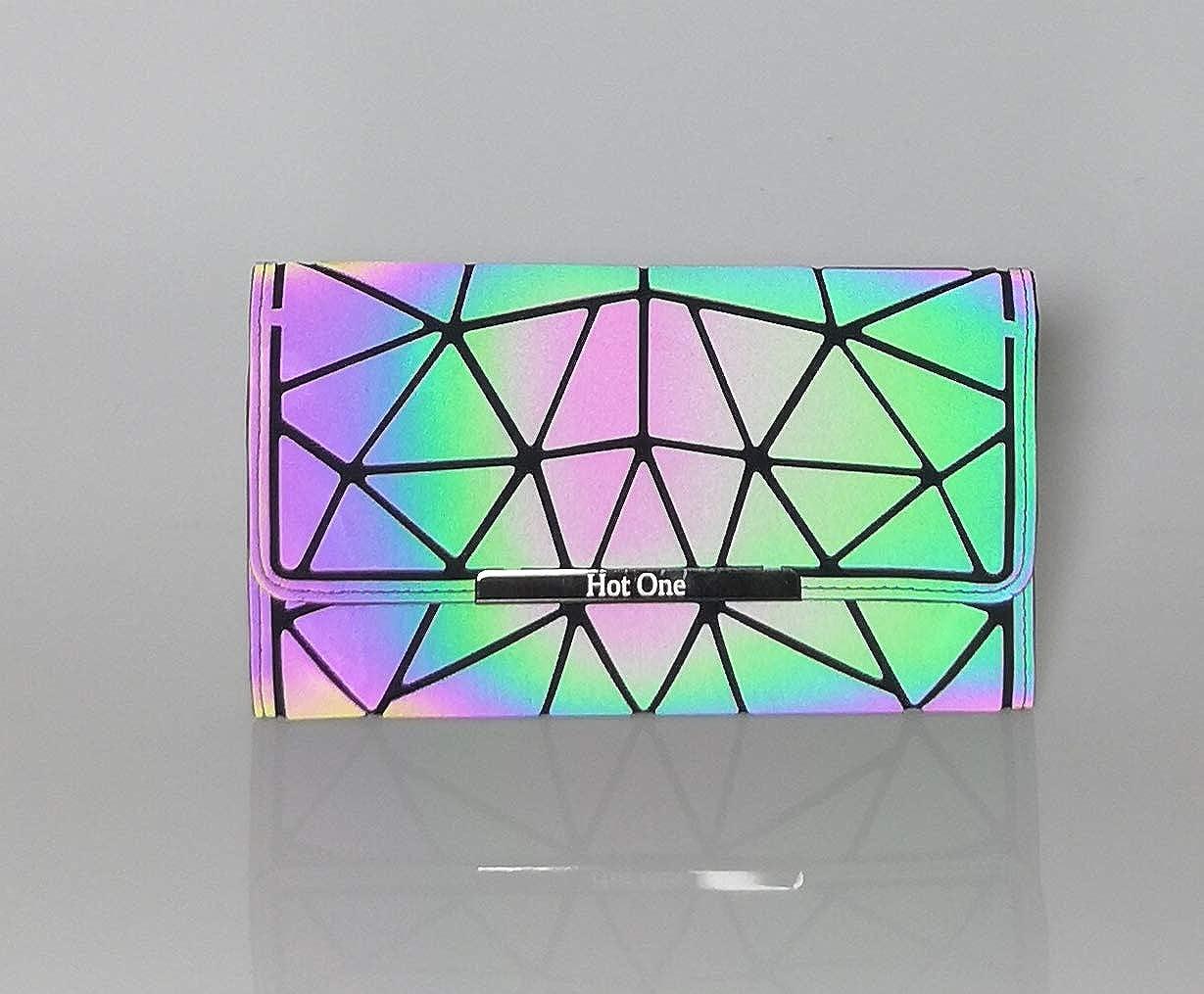 HotOne Geometric Purse Holographic Purse and Handbag Color Changes Luminous Purse for Women