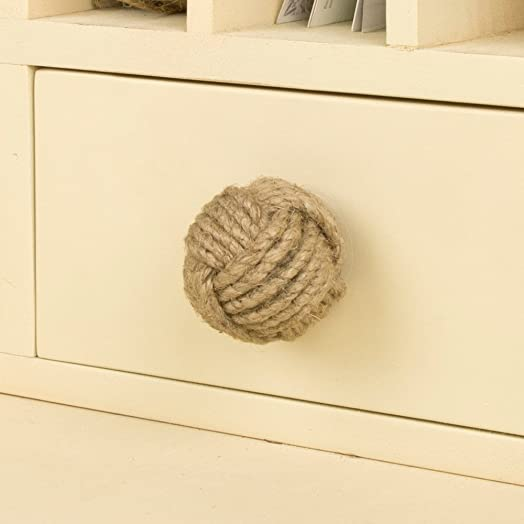 Nautical Jute Round Rope Door Drawer Knob