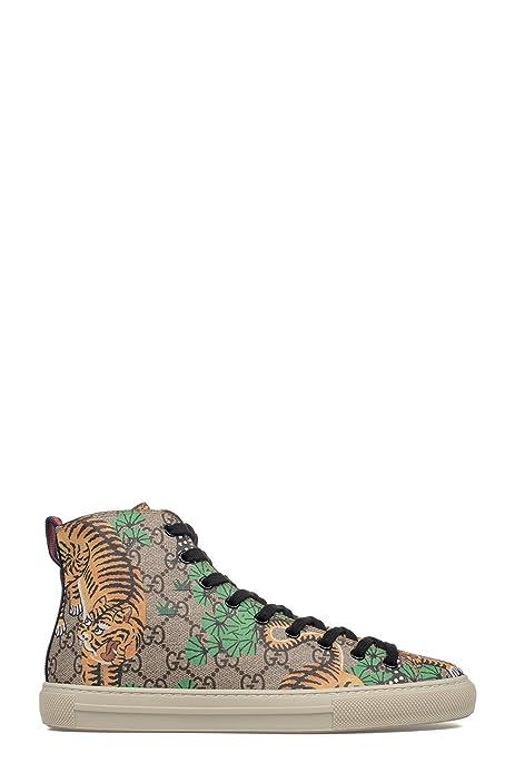 Gucci Hombre 451212K6D308683 Multicolor Cuero Zapatillas Altas: Amazon.es: Zapatos y complementos