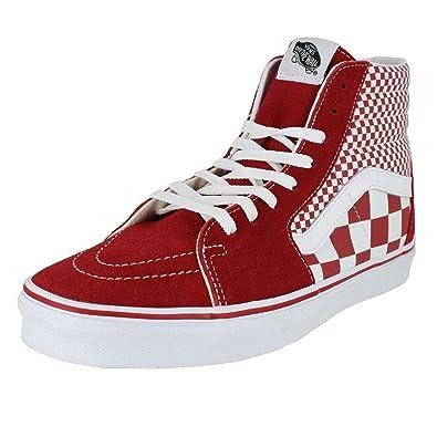 20a9ae6ab8b Vans Mens U SK8 HI Mix Checker Chili Pepper White Size 4.5