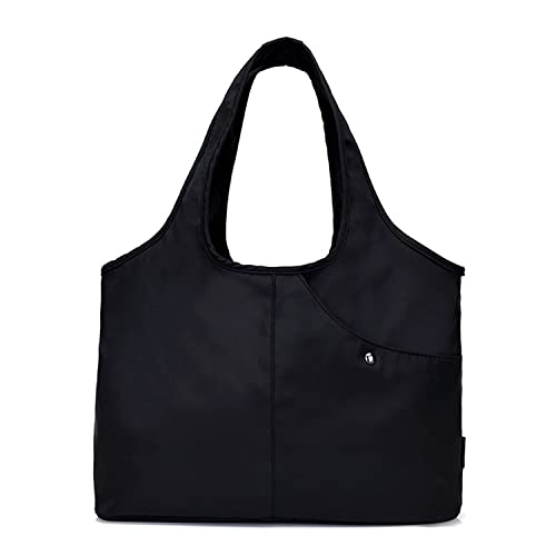 5b6bf964fbae Amazon.com  Tote Shoulder Bag Women Nylon Handbag Large Capacity Shopper  Bags with Water-Resistant Pocket for Umbrella  Shoes