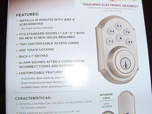 Kwikset SmartCode C4-KSDB-Z-SN ZigBee Control 4 (Satin Nickel) - - Amazon.com