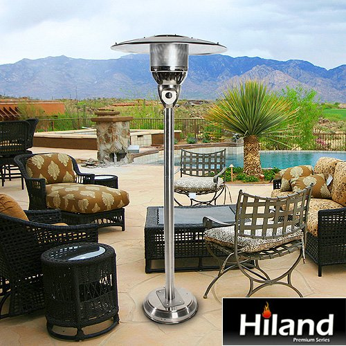 Amazon.com : AZ Patio Heaters Natural Gas Patio Heater In Stainless Silver  : Portable Outdoor Heating : Garden U0026 Outdoor