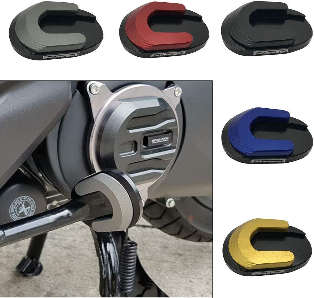 Black, Nouveau style LongGreat Patin d/élargissement du pied de b/équille de moto Side Stand Pad Anti-Slip Kickstand Extension Plate Pad Pour Honda Forza 300 125 250 2017-2020