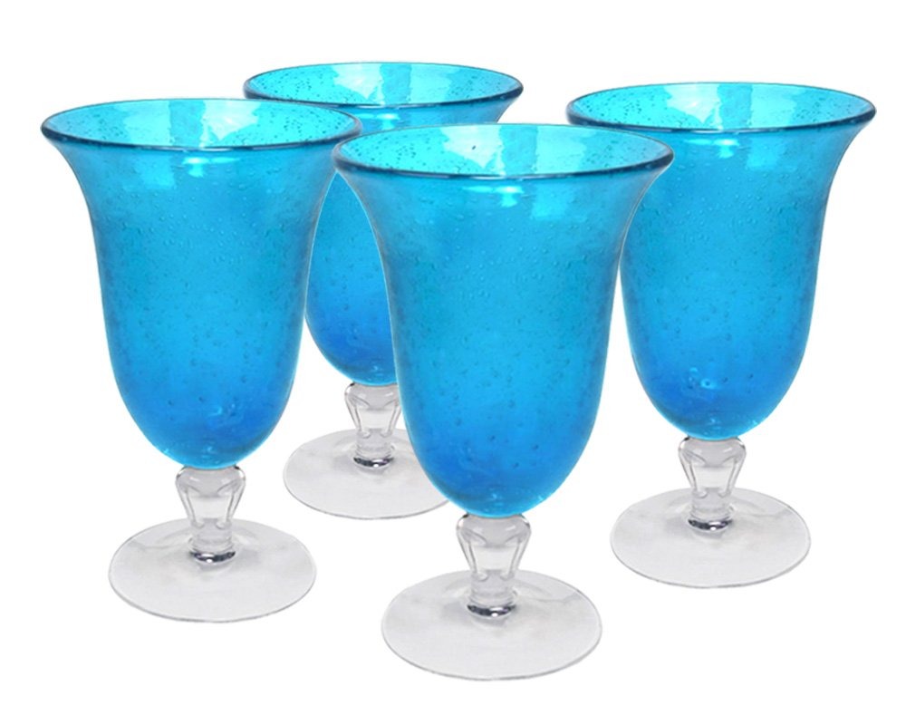 Amber 14 oz Artland 50408B Iris Glass Set Of 4