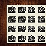 Go Pro Go Record Pro Photography Craft Stickers, 44 Stickers at 1.5 Inches, Great Shapes for Scrapbook, Party, Seals, DIY Projects, Item 660835