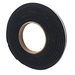 Fireblack125 1/2 x 1/8 Black Hi Temp BBQ smoker Gasket Self Stick15 ft LavaLock