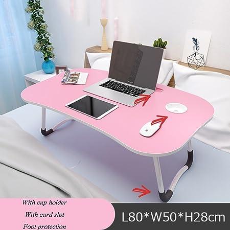 Mesa de noche YNN color blanco y rosa profesional, portátil, para ...