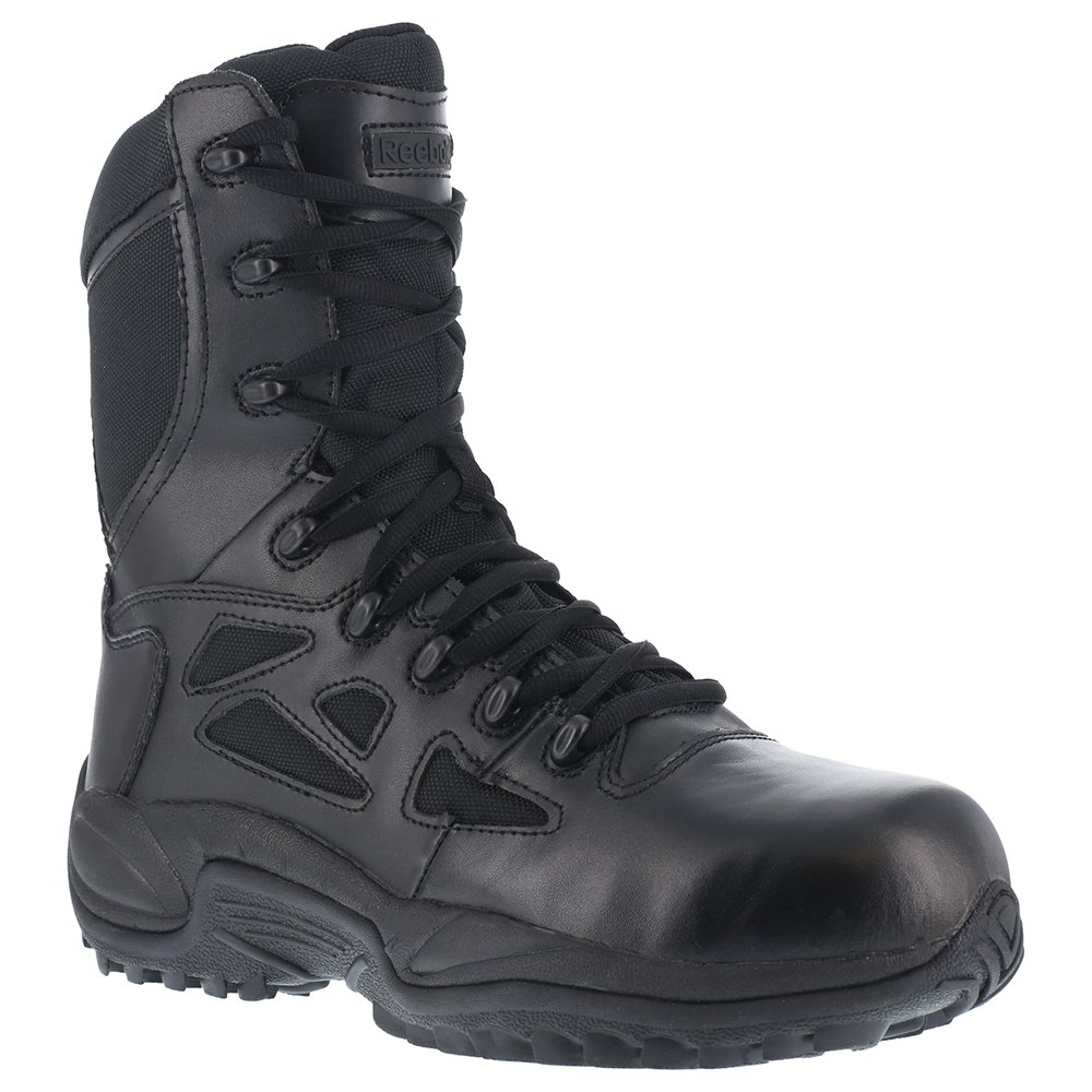 Reebok Women's 8'' Side-Zip Rapid Response Tactical Boot Black 11 D(M) US