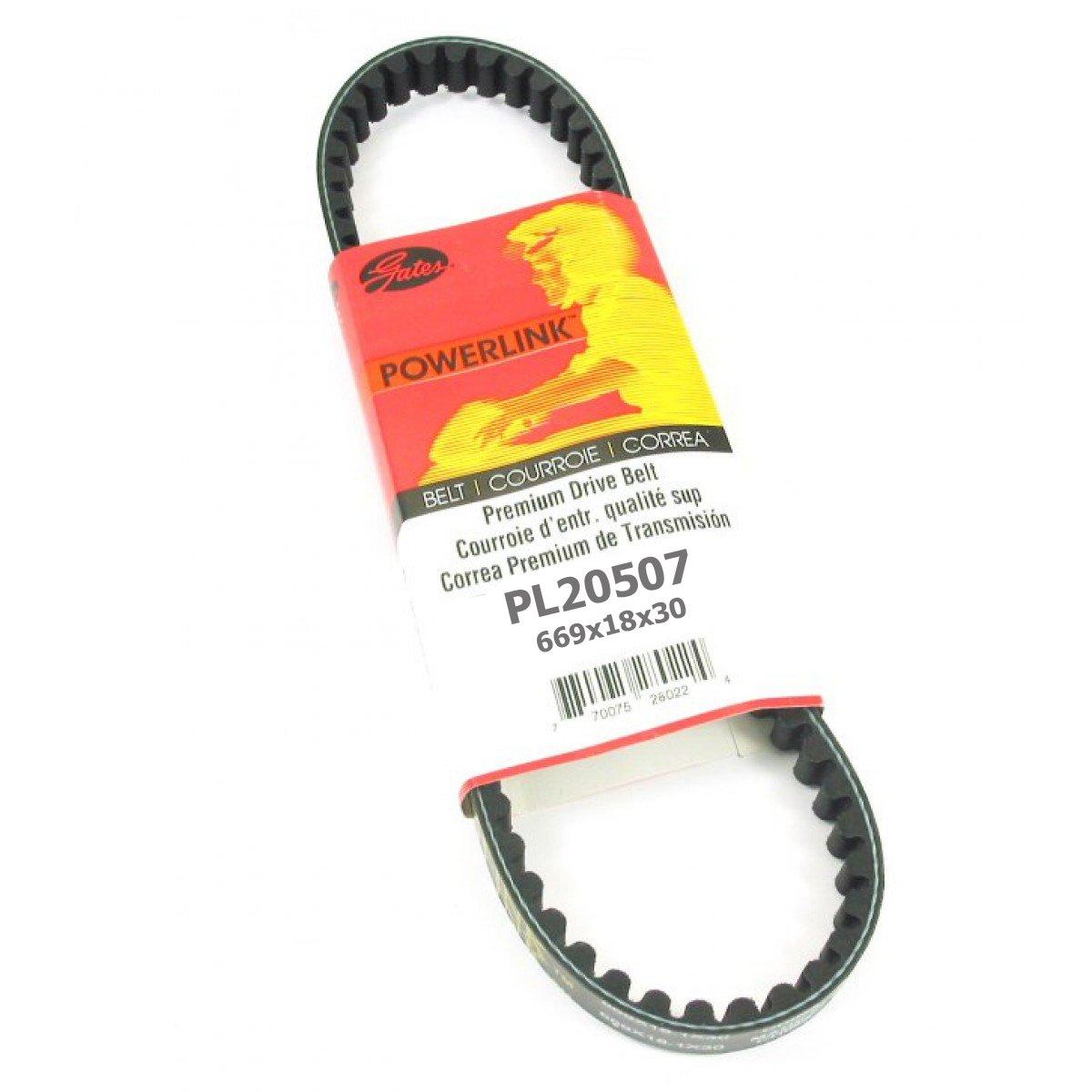 Gates Powerlink PL20507 replaces 669 18 30 Standard CVT Drive Belt 49cc/50cc GY6 QMB139 4 stroke Engines