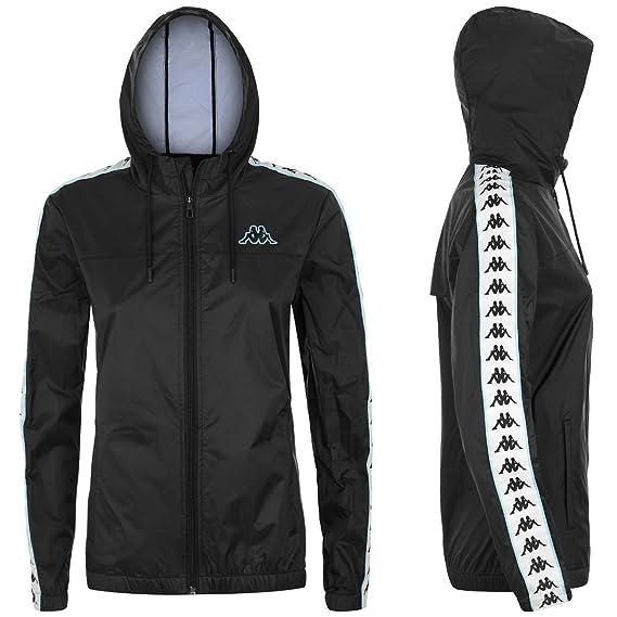 e234a39a Kappa Women's Jacket Black Black - Black - Medium: Amazon.co.uk ...