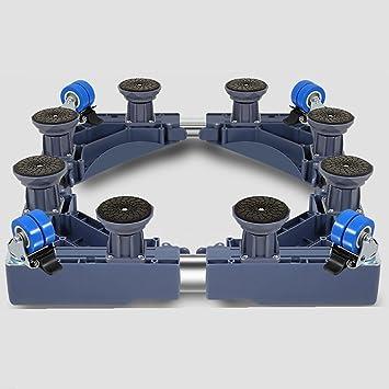D_HOME Trolley Multifuncional Ruedas Base Especial movible para electrodomésticos: secadoras, cocinas, frigoríficos y congeladores (Color : Azul): ...