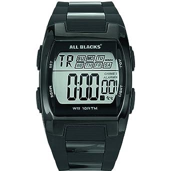 101895d12e462 All Blacks - 680057 - Montre Homme - Quartz Digital - Cadran Noir -  Bracelet Métal