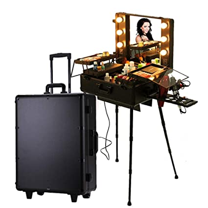 ff86799168e5 Amazon.com: Makeup Trolley On Universal Wheels Extra Large Cosmetic ...