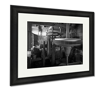 Ashley framed prints inside of an old windmill modern room accent piece black
