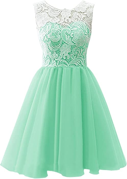 42e49451924a9 Amazon.com: MicBridal Flower Girl / Adult Ball Gown Lace Short Prom ...