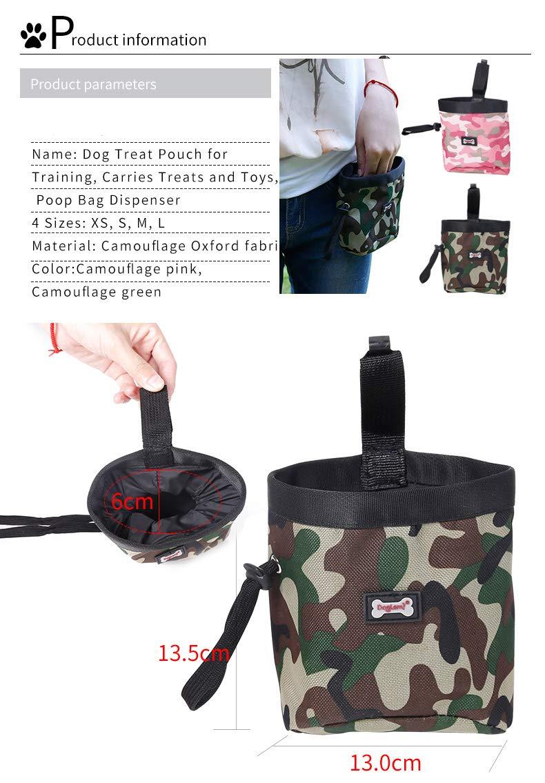 RC GearPro Pet Training Bag Hund Snacks Tasche tragen Leckereien Spielzeug Poop Bag Dispenser wasserdichte Outdoor-Welpen-Futterbeutel
