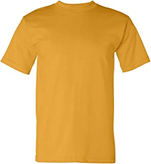 product image for Bayside Adult Short-Sleeve Cotton Tee - Gold - XL