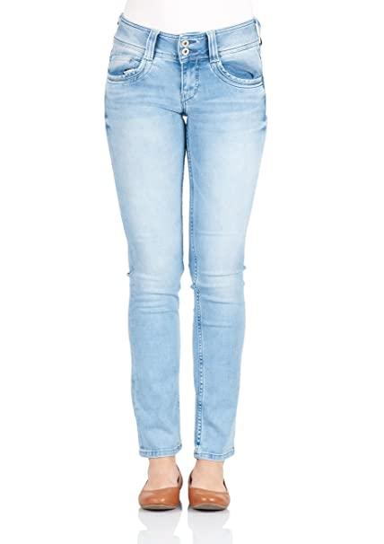 Pepe Jeans Damen Jeans Gen Regular Fit Blau Light Denim, Größe:W 29 L 30, Farbe:Light Denim (0000)