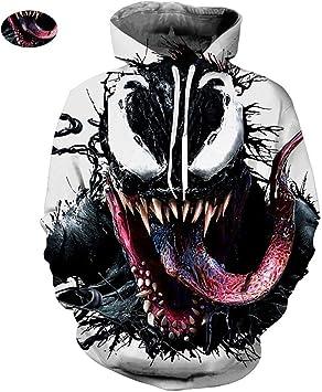 XYQB Camisa con Capucha para Hombre Venom Impresión 3D Sudadera con Capucha Sudadera con Capucha Casual Sudadera al Aire Libre,5XL: Amazon.es: Deportes y aire libre