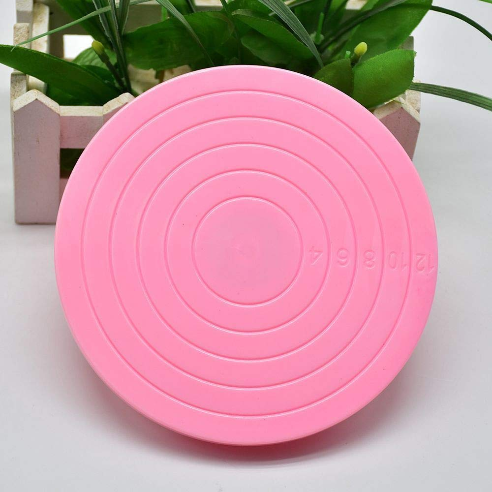 Alimao Mini Cake Plate Revolving Platform Turntable Round Rotating Swivel Baking Cute Pink by Alimao (Image #2)