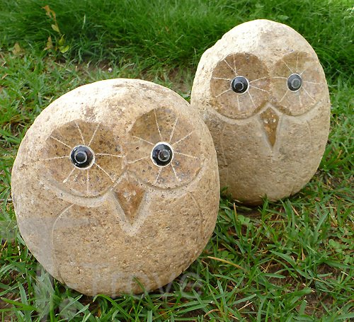 Stone Age Creations AN-OW-06 Decorative Stone Owl, 6-Inch