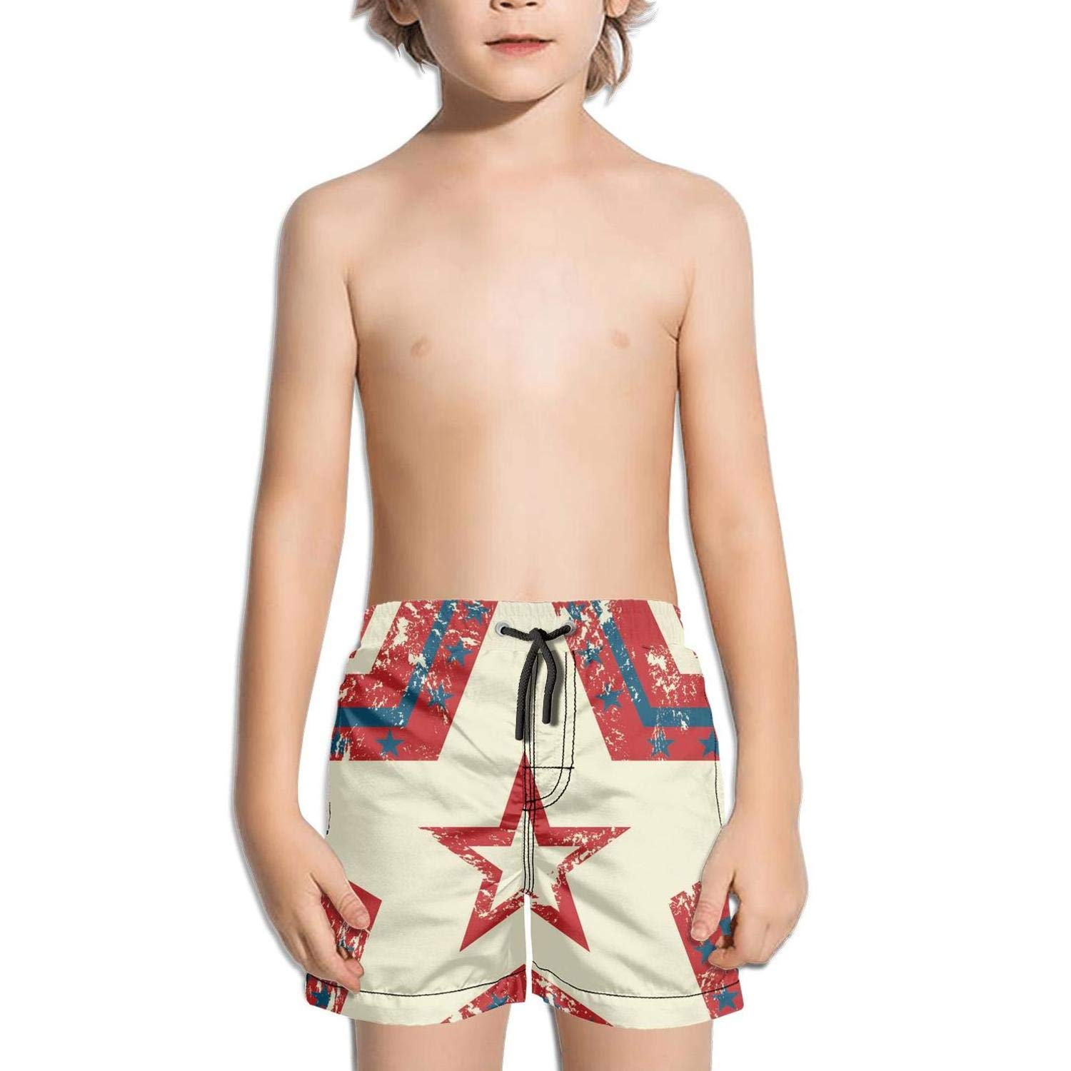 4th of July American Flag independce2 Fashion Swim Trunks BingGuiC Boys Quick Dry Shorts